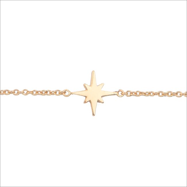 Goldfarbene ALLTHELUCKINTHEWORLD Armband SOUVENIR BRACELET STAR BURST - large