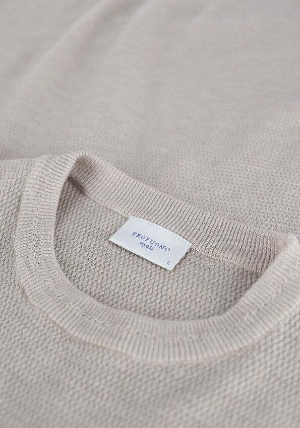 Beige PROFUOMO Pullover JEWELL - larger
