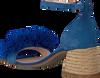 Blaue FRED DE LA BRETONIERE Sandalen FRS0333 SANDALET 5CM 5CM SUEDE - small