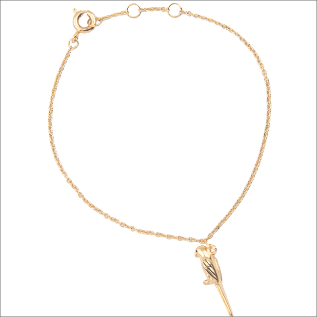 Goldfarbene ALLTHELUCKINTHEWORLD Armband SOUVENIR BRACELET PARROT - large