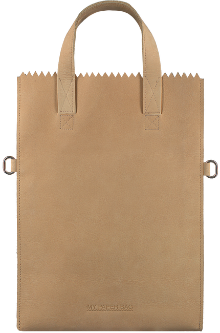 Beige MYOMY Handtasche FOLD - large