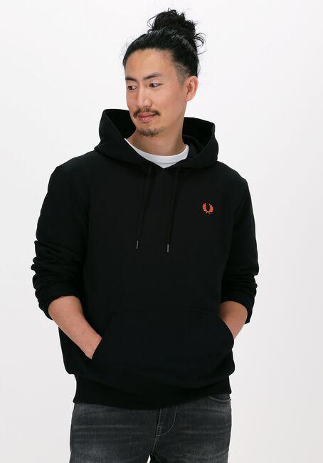 Schwarze FRED PERRY Sweater LAUREL WREATH HOODED SWEATSHIR  - large