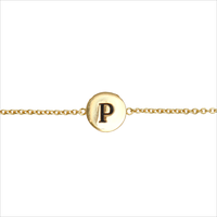 Goldfarbene ALLTHELUCKINTHEWORLD Armband CHARACTER BRACELET LETTER GOLD - medium