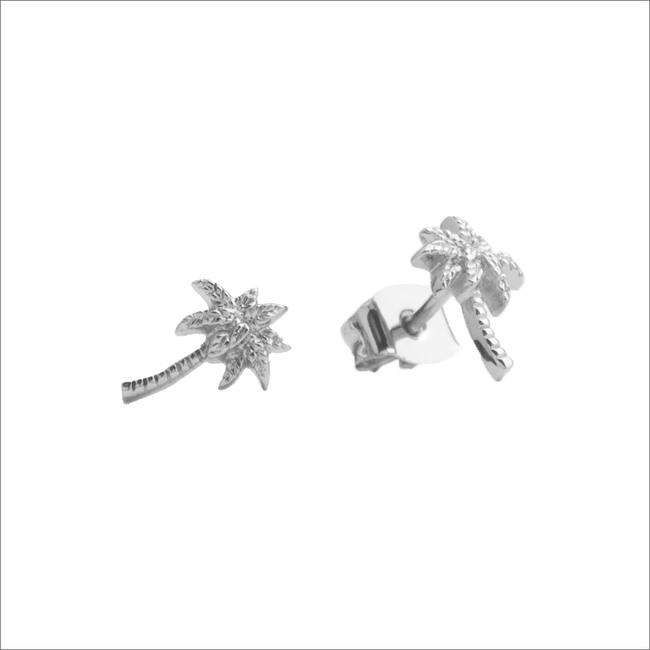 Silberne ALLTHELUCKINTHEWORLD Ohrringe PARADE EARRINGS PALM - large