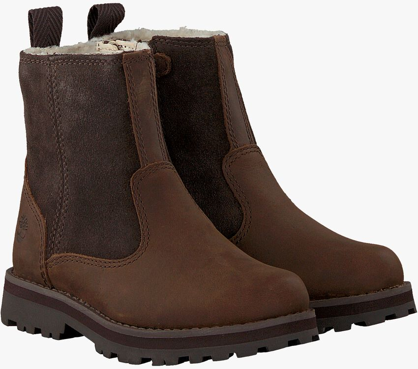 Braune TIMBERLAND Ankle Boots COURMA KID WARM LINED  - larger