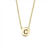 Goldfarbene ALLTHELUCKINTHEWORLD Kette CHARACTER NECKLACE LETTER GOLD - medium