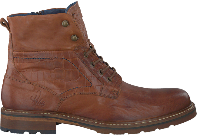 Cognacfarbene REHAB Ankle Boots CARL - large