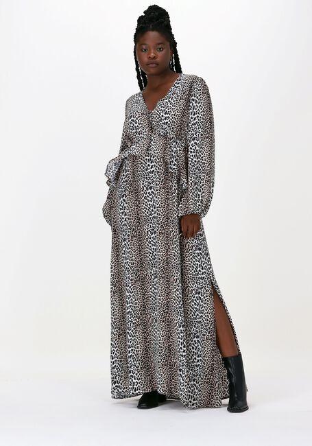 Beige NOTES DU NORD Maxikleid ALICIA LEOPARD DRESS  - large