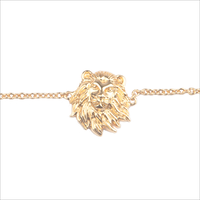 Goldfarbene ALLTHELUCKINTHEWORLD Armband SOUVENIR BRACELET LION - medium