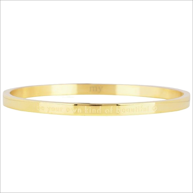 Goldfarbene MY JEWELLERY Armband BE YOUR OWN KIND OF BEAUTIFUL - large