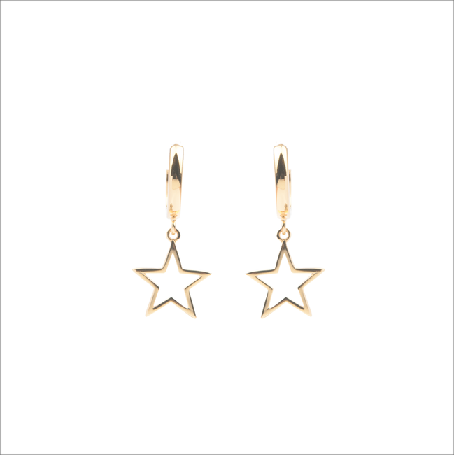 Goldfarbene ALLTHELUCKINTHEWORLD Ohrringe SOUVENIR EARRINGS STAR - large