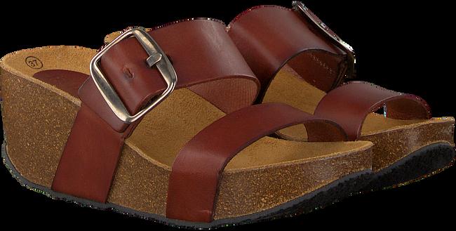 Cognacfarbene RED RAG Pantolette 78074  - large