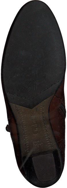 Cognacfarbene GABOR Stiefeletten 95.610.24 - large