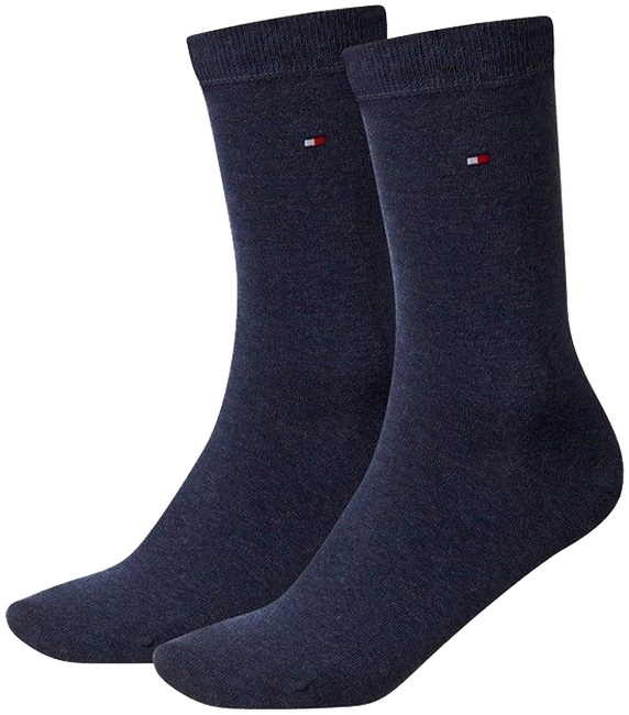 Blaue TOMMY HILFIGER Socken TH CHILDREN SOCK TH BASIC 2P - large