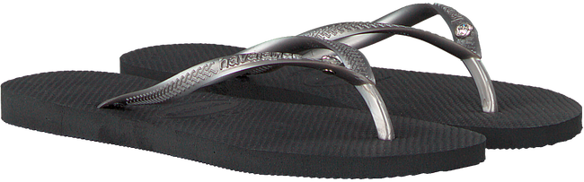 Graue HAVAIANAS Pantolette SLIM CRYSTAL GLAMOUR  - large