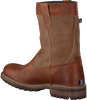 Cognacfarbene GAASTRA Ankle Boots CABIN HIGH FUR - small