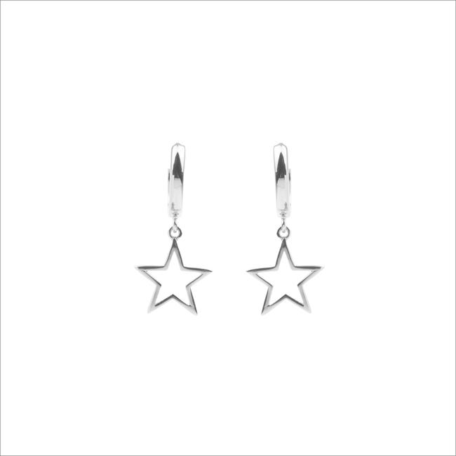Silberne ALLTHELUCKINTHEWORLD Ohrringe SOUVENIR EARRINGS STAR - large