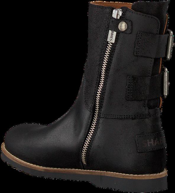 Schwarze SHABBIES Hohe Stiefel 182-0201SH - large