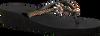Schwarze UZURII Pantolette GOLD FLY MH - small