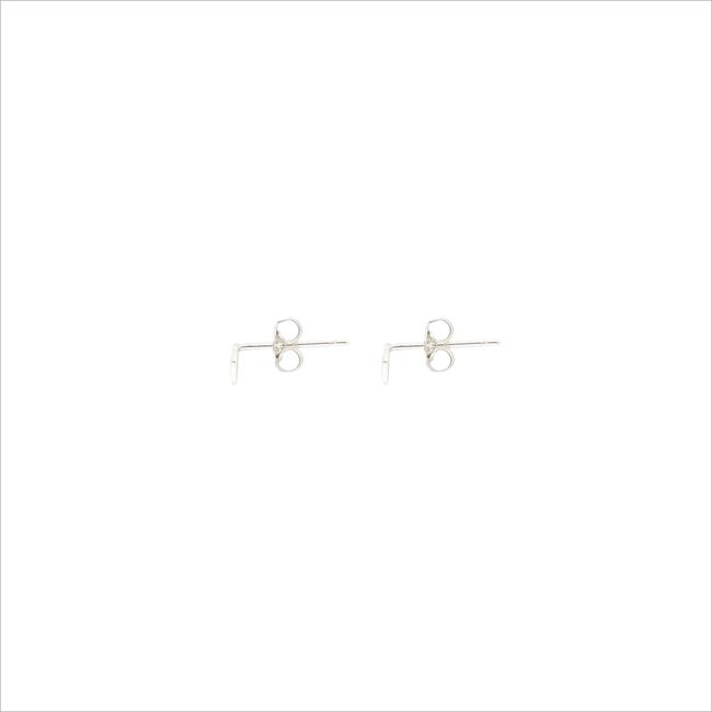 Silberne ALLTHELUCKINTHEWORLD Ohrringe PETITE EARRINGS RHOMB - large