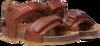 Cognacfarbene RED-RAG Sandalen 19145  - small