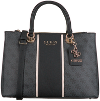 Schwarze GUESS Handtasche CATHLEEN STATUS CARRYALL  - medium