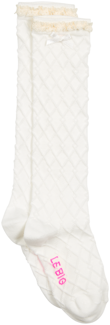 Weiße LE BIG Socken ROCHELLE KNEE HIGH  - large