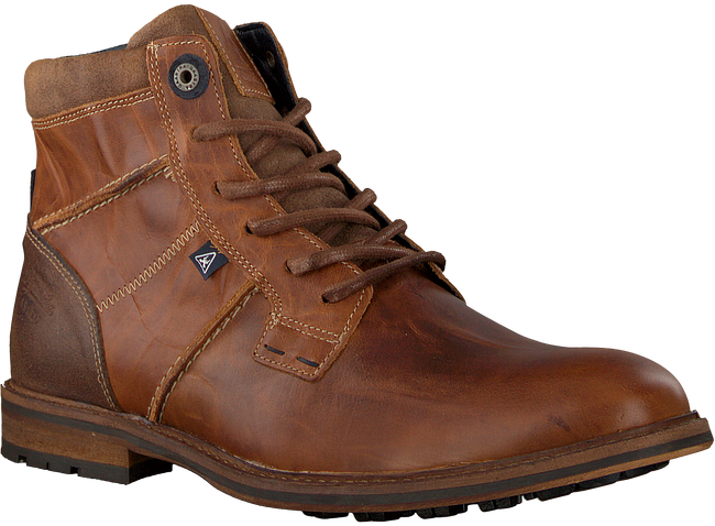 Cognacfarbene GAASTRA Ankle Boots CREW HIGH BOAT - large