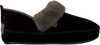Schwarze WARMBAT Hausschuhe POLARFOX WOMEN SUEDE - small