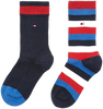 Blaue TOMMY HILFIGER Socken TH KIDS BASIC STRIPE SOCK 2P - small