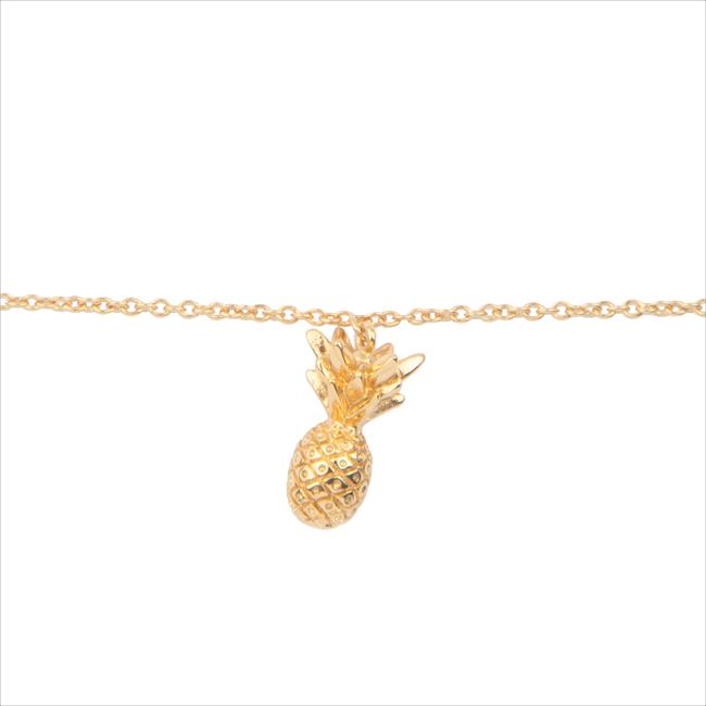 Goldfarbene ALLTHELUCKINTHEWORLD Armband SOUVENIR BRACELET PINEAPPLE - large
