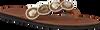 Braune OMODA KUBUNI Zehentrenner SLIPPER CIRCLE - small