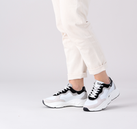 Weiße HUB Sneaker low ROCK-W  - medium