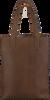 Braune MYOMY Handtasche LONG HANDLE ZIPPER - small