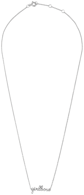 Silberne ALLTHELUCKINTHEWORLD Kette URBAN NECKLACE GIRLBOSS - large
