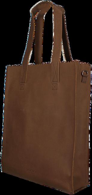Cognacfarbene MYOMY Handtasche DELUXE OFFICE - large