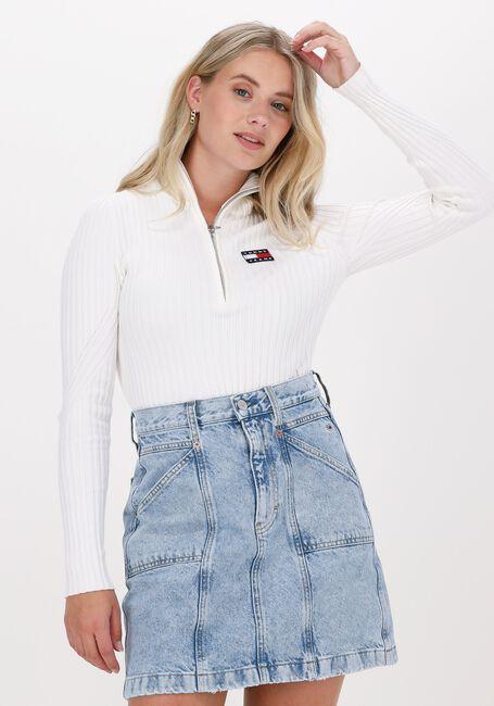 Weiße TOMMY JEANS Sweater TJW HALF ZIP THRU SWEATER - large