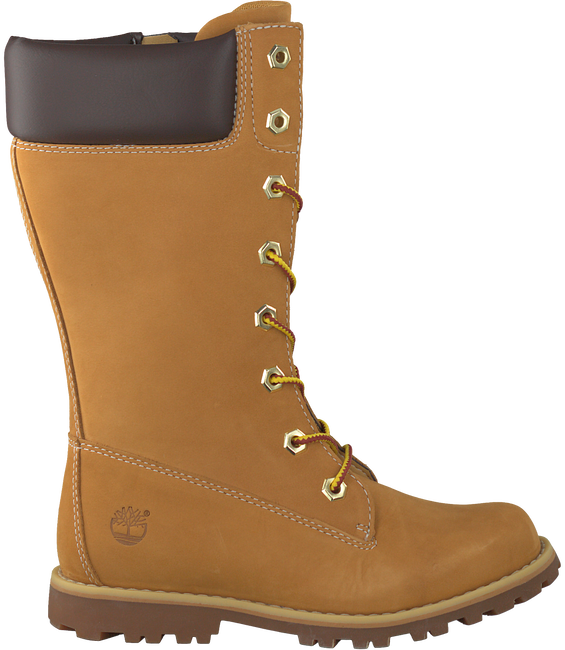 Camelfarbene TIMBERLAND Langschaftstiefel GIRLS CLASSIC TALL LACE-UP - large