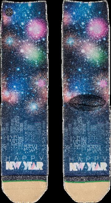Grüne XPOOOS Socken XMAS HAPPY NEW YEAR 80'S - large