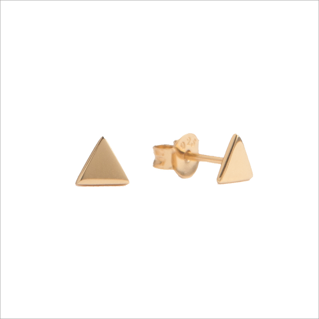 Goldfarbene ALLTHELUCKINTHEWORLD Ohrringe PARADE EARRINGS TRIANGLE - large