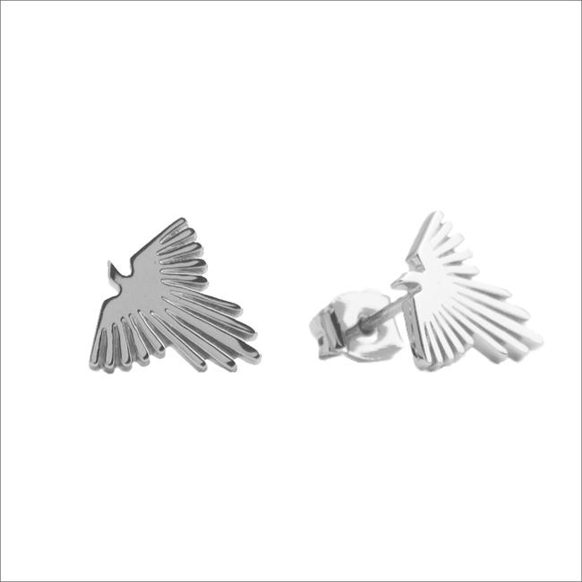 Silberne ALLTHELUCKINTHEWORLD Ohrringe PARADE EARRINGS EAGLE - large