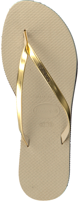 Beige HAVAIANAS Zehentrenner YOU METALLIC - large