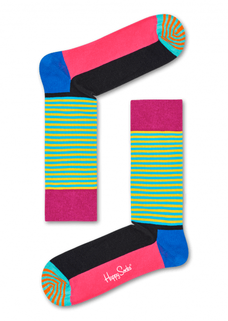 Blaue HAPPY SOCKS Socken HALF STRIPE  - large