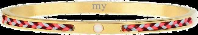 Goldfarbene MY JEWELLERY Armband CORD BANGLE - large