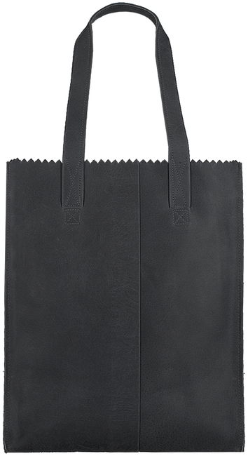 Schwarze MYOMY Handtasche DELUXE OFFICE - large