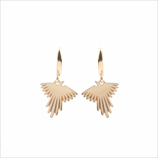 Goldfarbene ALLTHELUCKINTHEWORLD Ohrringe SOUVENIR EARRINGS EAGLE - large