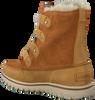 Camelfarbene SOREL Ankle Boots COZY JOAN - small