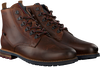 Cognacfarbene CYCLEUR DE LUXE Schnürboots OFFICER - small