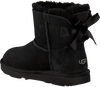 Schwarze UGG Ankle Boots MINI BAILEY BOW II KIDS - small