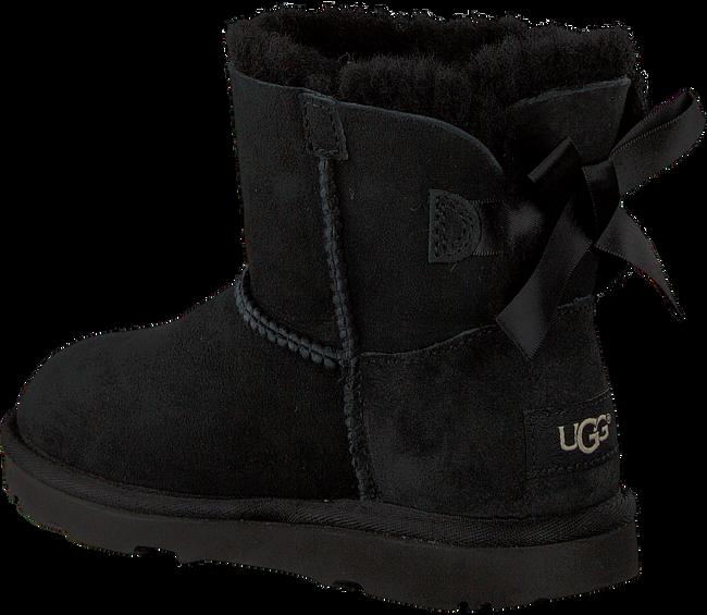 Schwarze UGG Ankle Boots MINI BAILEY BOW II KIDS - large